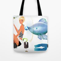 surrealism Tote Bags featuring Surrealism by amanvel