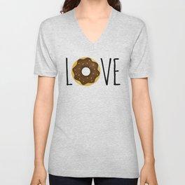 I Love Donuts Unisex V-Neck