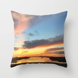 South Jersey Parkway Skies Throw Pillow