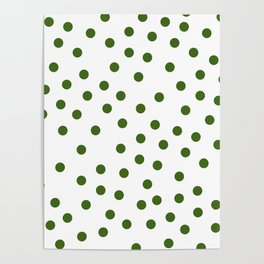 Simply Dots in Jungle Green Poster