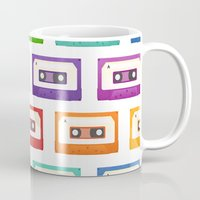 cassette Mugs featuring Cassette Tapes by Sara Showalter