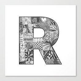 Cutout Letter R Canvas Print