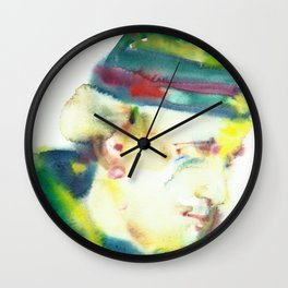 FREDERICK ROLFE - watercolor portrait Wall Clock