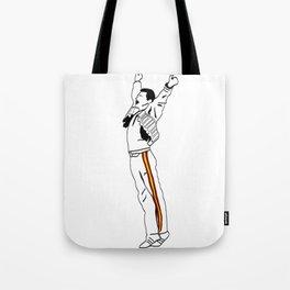 Freddie at Wembley Tote Bag