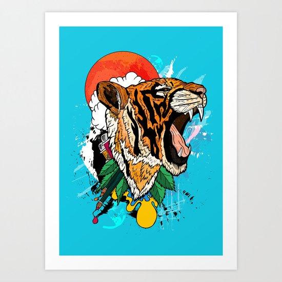 Tiger Roar 2 Art Print