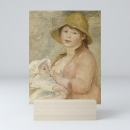 Maternity (Child at the breast) Mini Art Print