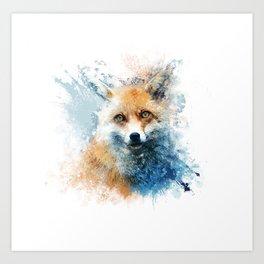 sly fox Art Print