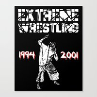 wrestling Canvas Prints featuring Extreme Wrestling by Darth Paul