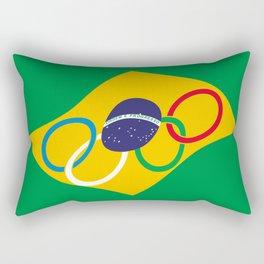 Brazil Olympics Rectangular Pillow