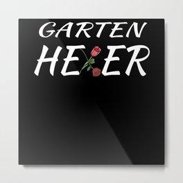 Garden Witcher Gift Idea For Gardeners Metal Print