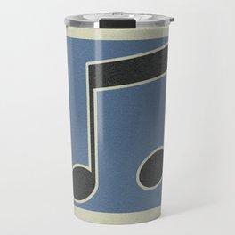 eighths note blue Travel Mug