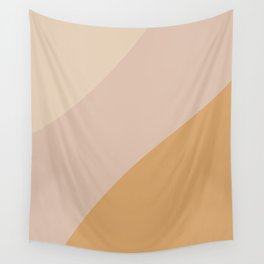 Warm Neutral Color Wave Wall Tapestry