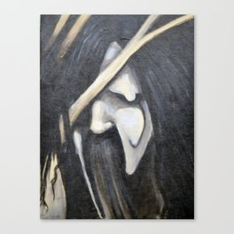 Dark face Canvas Print