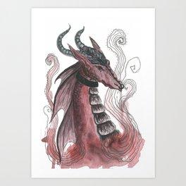 Dragonfire Art Print