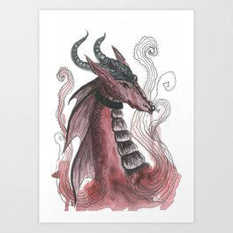 Dragonfire Art Print