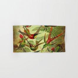 HUMMINGBIRD COLLAGE- Ernst Haeckel Hand & Bath Towel