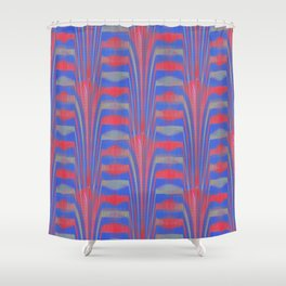 Imprecise Endeavor (Blue) Shower Curtain