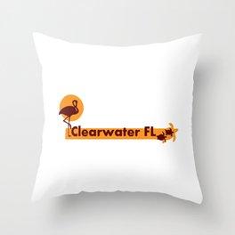 Clearwater Beach - Florida. Throw Pillow