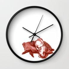 Sketchy Skull Wall Clock