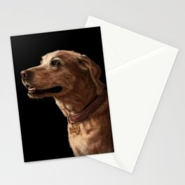 Labrador Retriever Dog Painting Stationery Cards