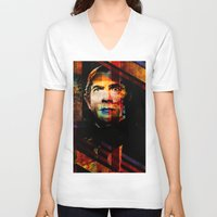 dracula V-neck T-shirts featuring Dracula by BendolaMonster