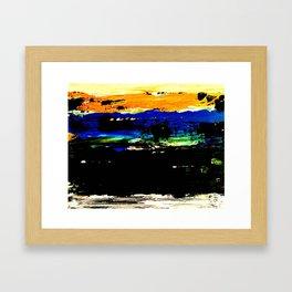Burnt Sunset Framed Art Print
