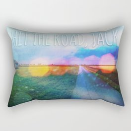 Hit The Road, Jack Rectangular Pillow