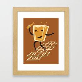 Hop-Scotch Framed Art Print