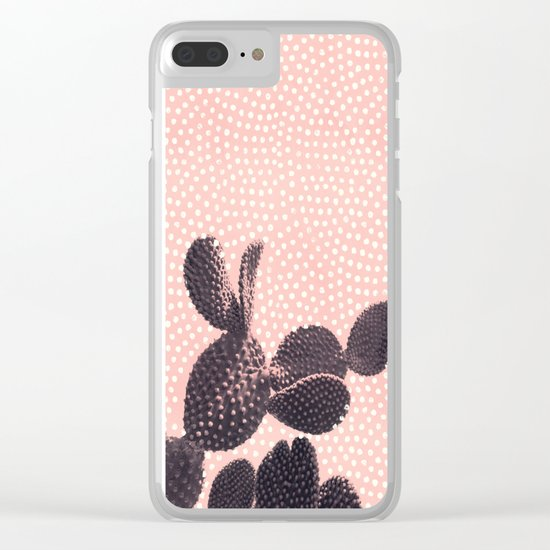 Cactus with Polka Dots Clear iPhone Case