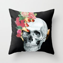 Skull Crusher Throw Pillow
