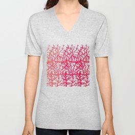 turquoise pink Unisex V-Neck