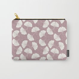ginkgo leaves - mauve Carry-All Pouch