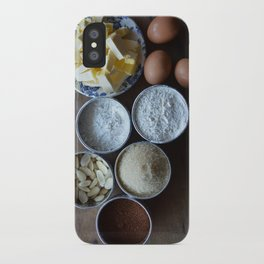 Cake ingredients iPhone Case