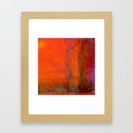 Orange Study #3 Digital Painting Framed Art Print