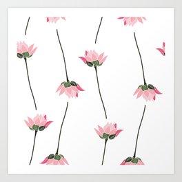 Lotos flower pattern Art Print
