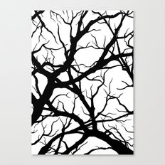 Black n White branche Canvas Print