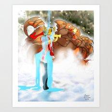 Machine and Me 2 [Digital Figure/Fantasy Illustration] Art Print