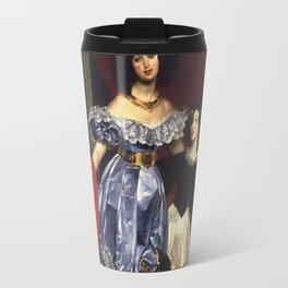 Karl Bryullov  - Portrait Of Countess Samoilova Travel Mug