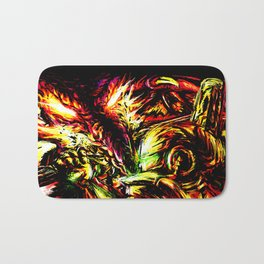 Metroid Metal: Ridley- Through the Fire.. Bath Mat