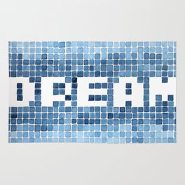 Dream watercolor mosaic typography Rug