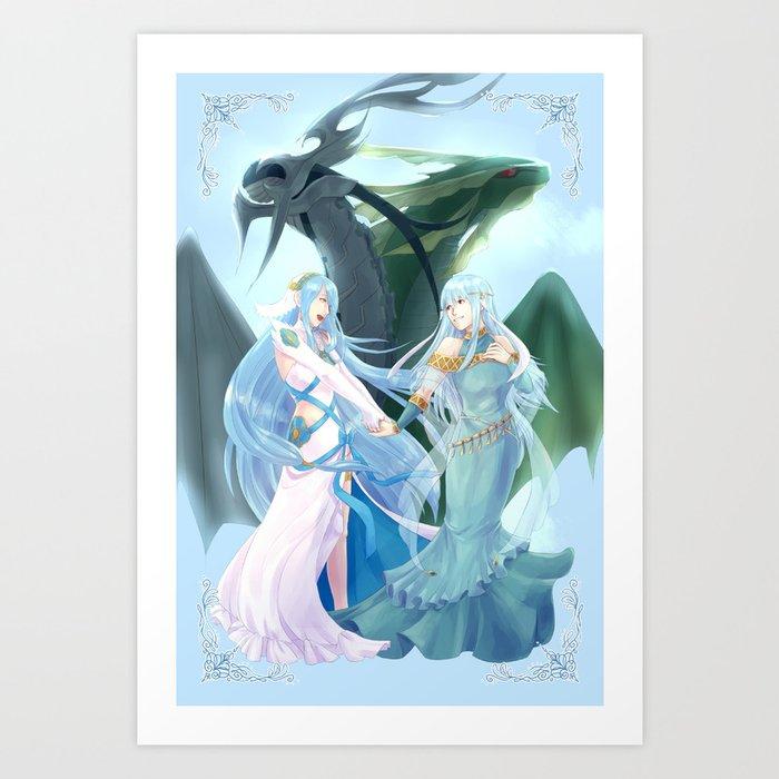 Fire Emblem Azura Ninian Art Print By Cycha Society6