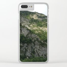 Sunny mountains Clear iPhone Case