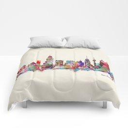San Antonio Texas skyline Comforters