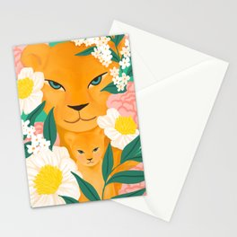 Mother Lion and Cub I Stationery Cards