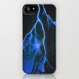 Blue Lightning iPhone Case