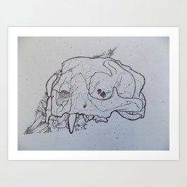 Lion Skull Art Print