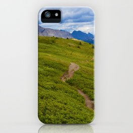 Views Along the Wilcox Pass Trail in Jasper National Park, Canada iPhone Case