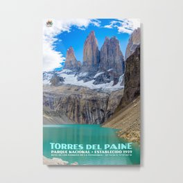 Torres del Paine Park Poster Metal Print