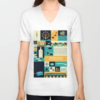 divergent V-neck T-shirts featuring Divergent items by Isabelle Silva