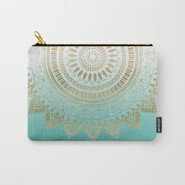 Pretty hand drawn tribal mandala elegant design Carry-All Pouch